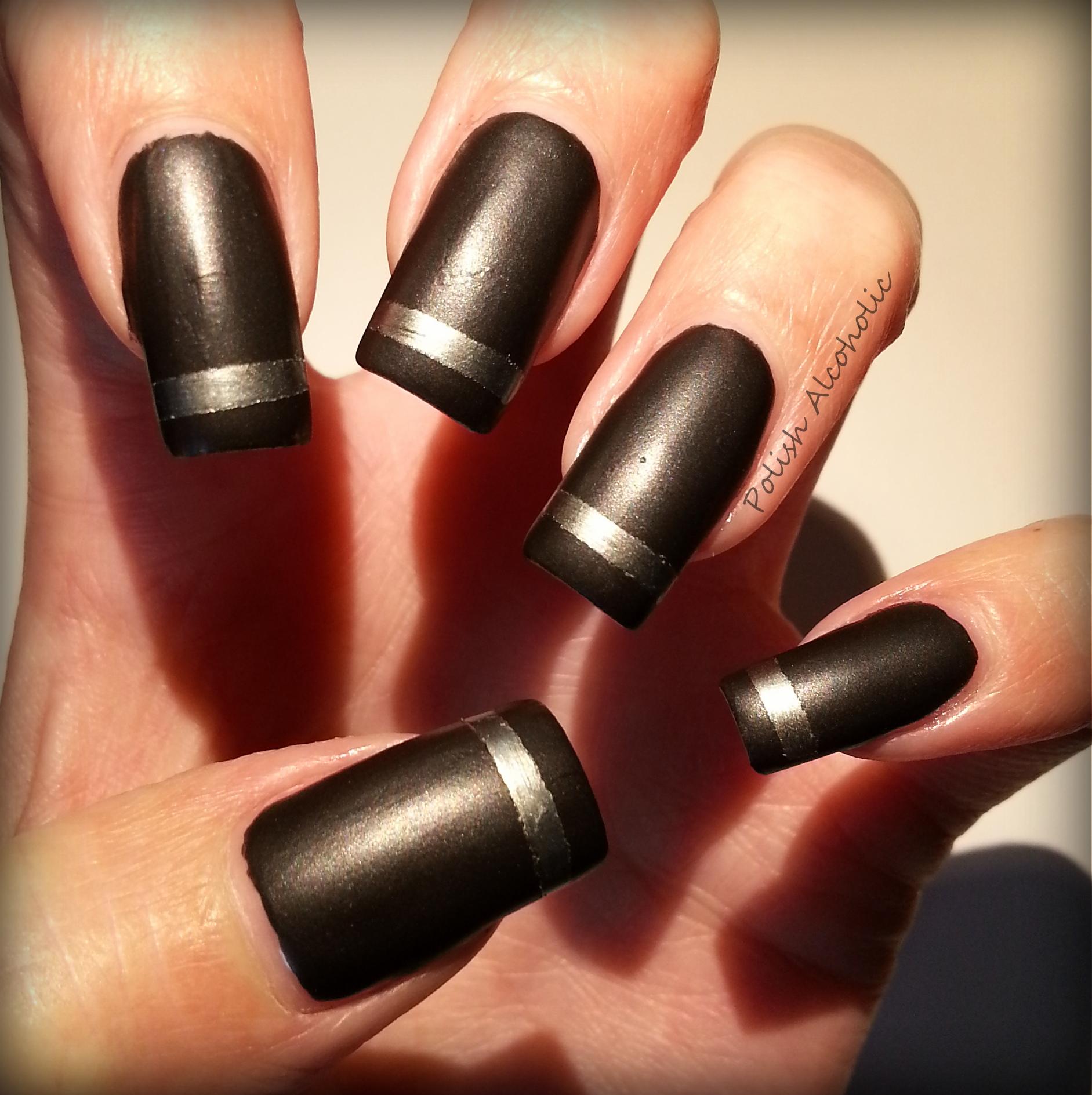 matte black nail polis...