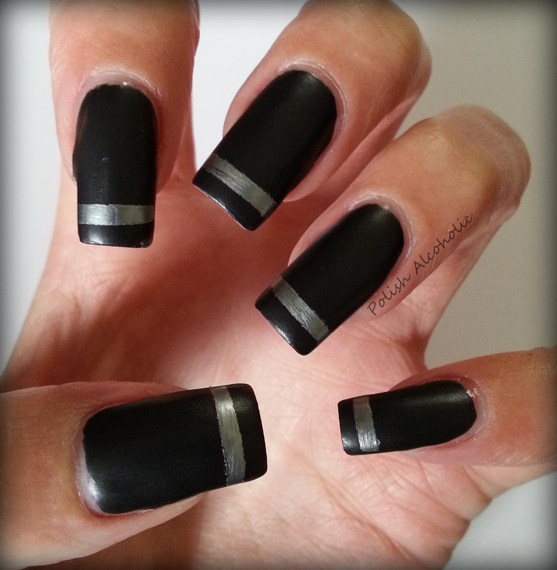 matte black nail polish | Polish Alcoholic