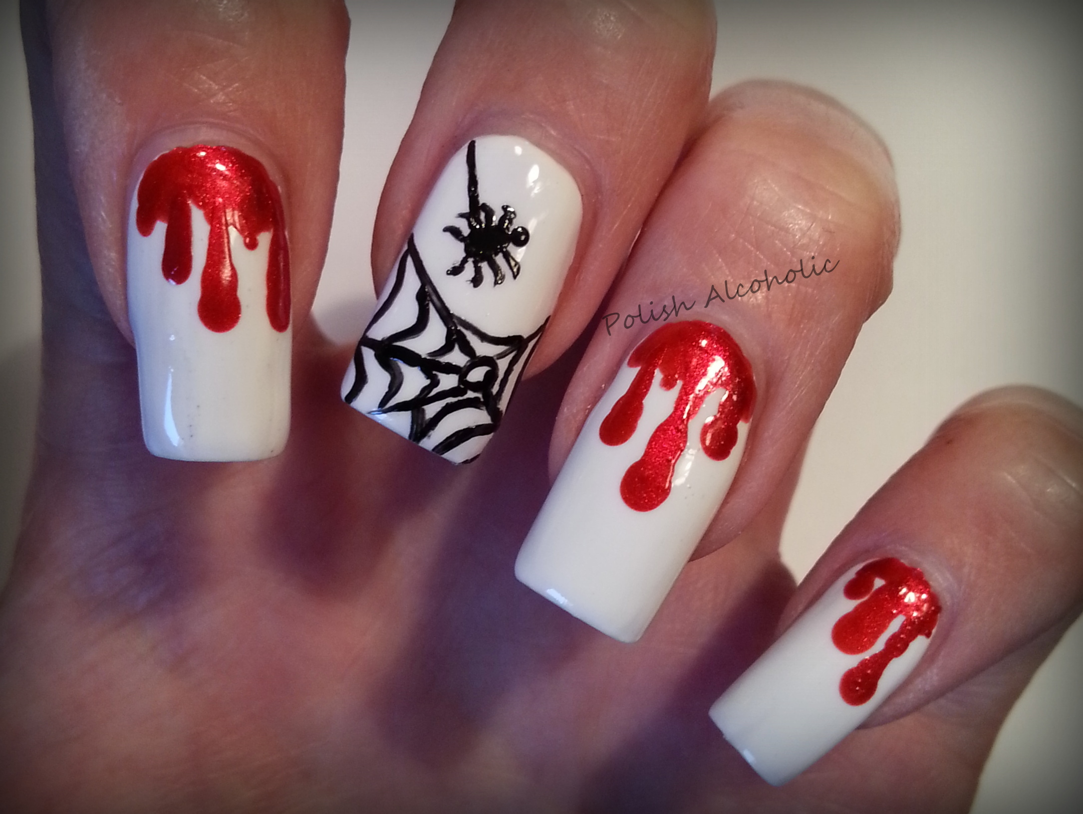 Halloween nail art polish alcoholic advertisements posted in nail art tagged dripped blood prinsesfo Choice Image