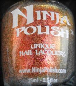 ninja polish color changing garnet bottle