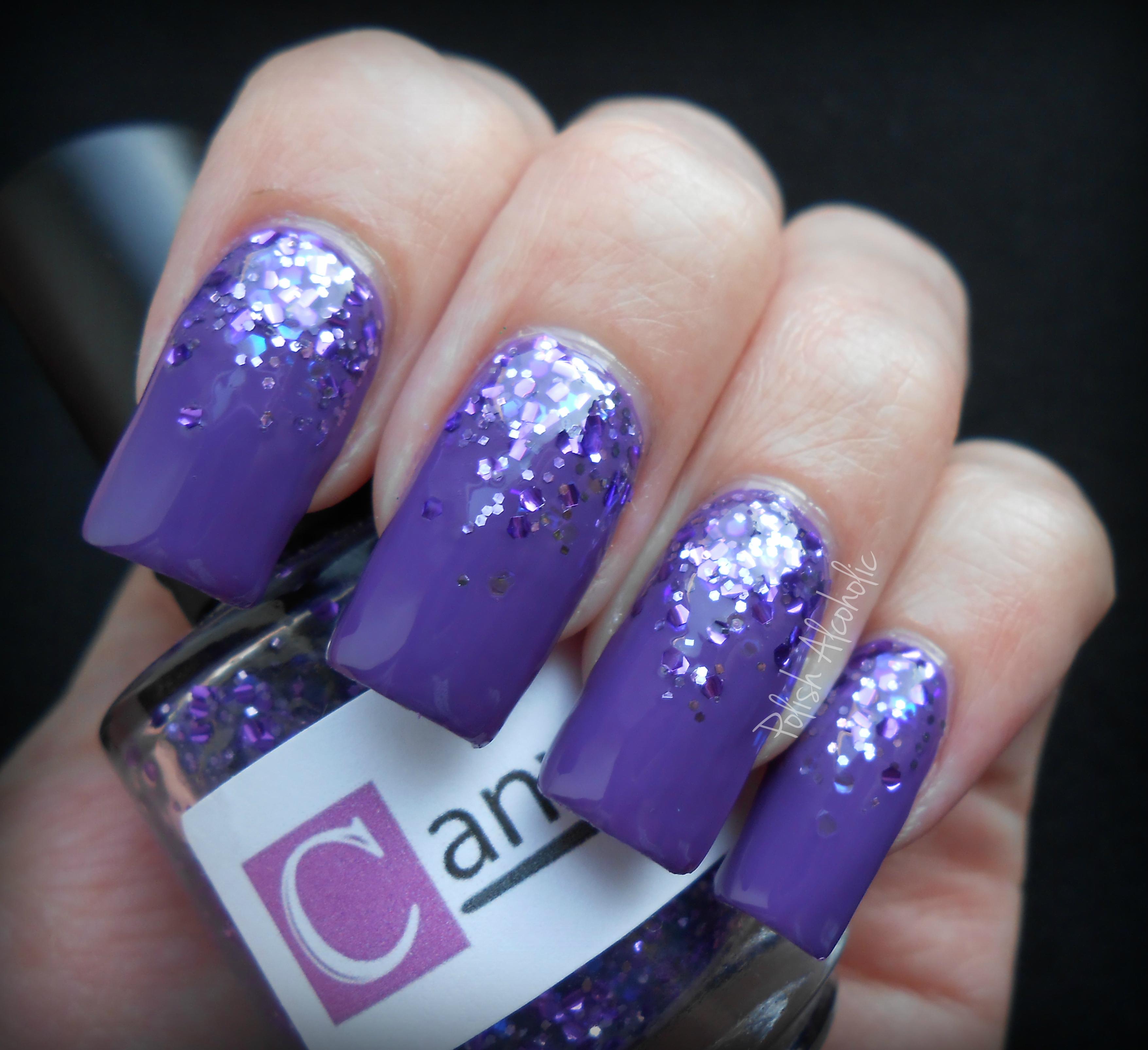 canvas nails bold and bright purple | polish alcoholic