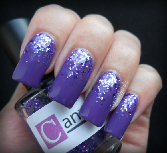 canvas nails bold and bright purple