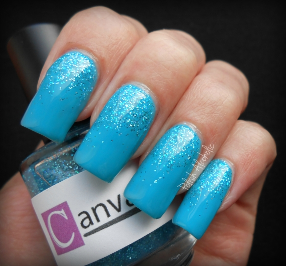 canvas nails sky blue