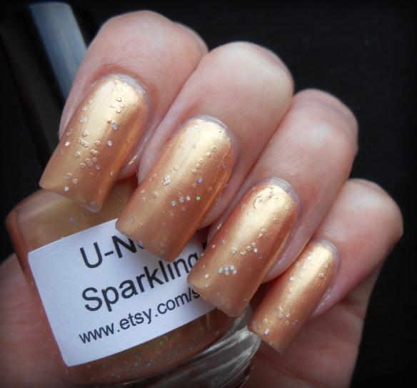 u-neek polish sparkling peach