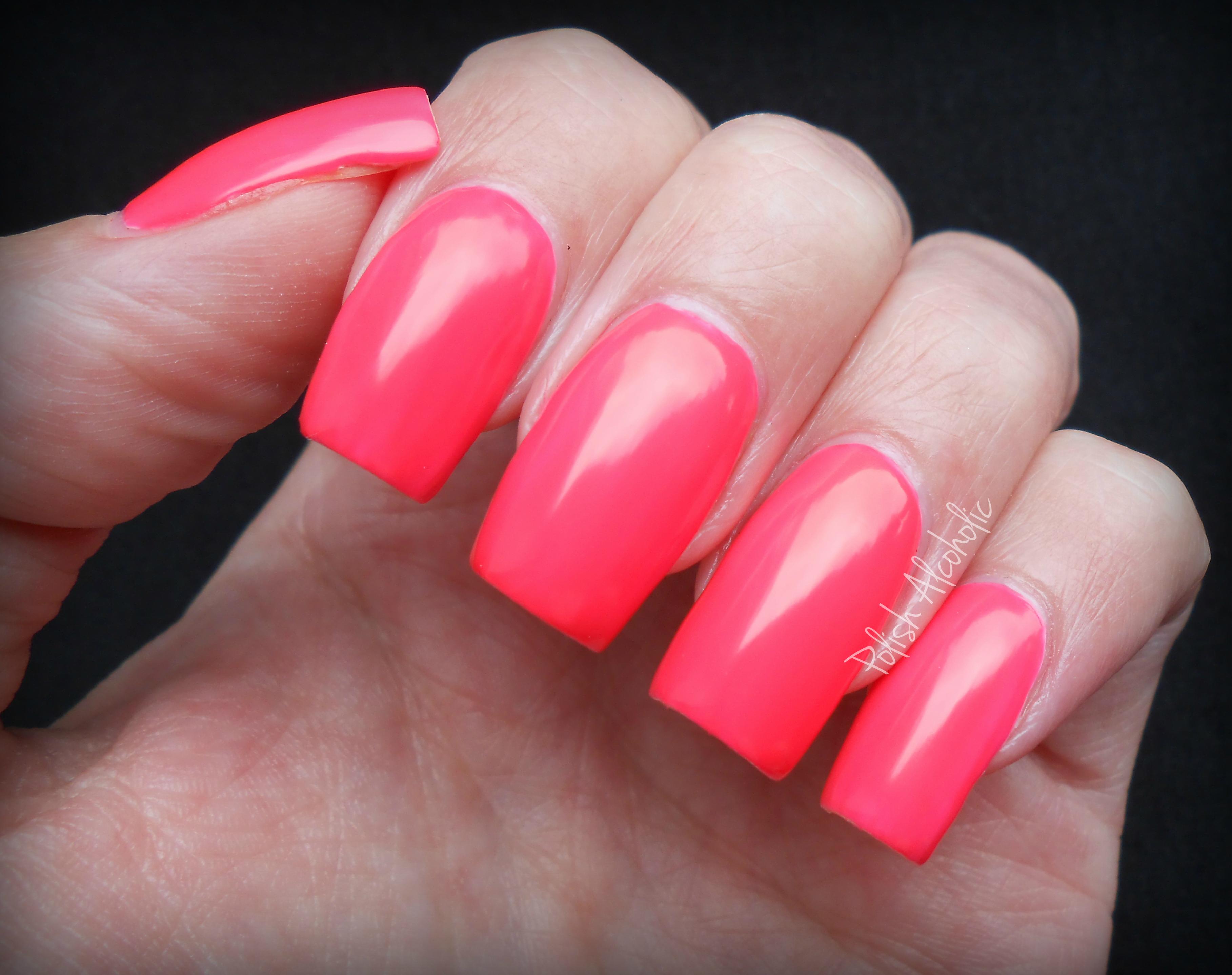Models Own Neon Pink Nail Polish Nail Ftempo