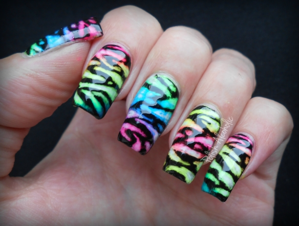 neon black zebra