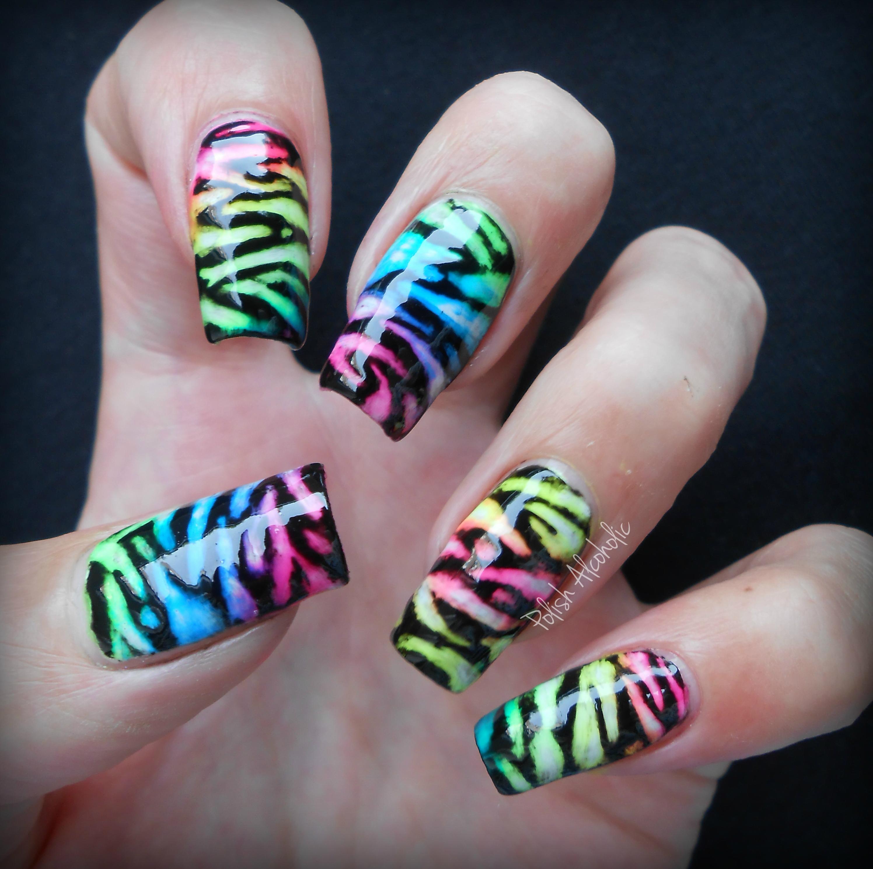 neon nails | Polish Alcoholic