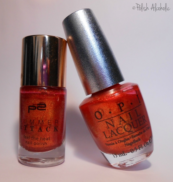 OPI vs. P2 - bottles