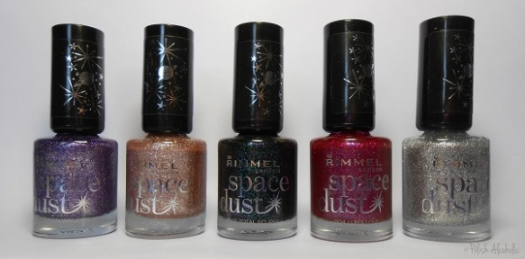 rimmel - space dust bottles
