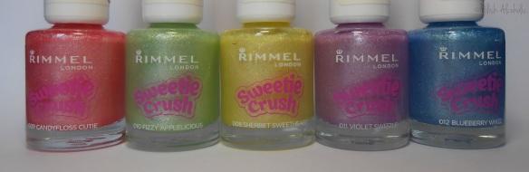 rimmel - sweetie crush - bottles