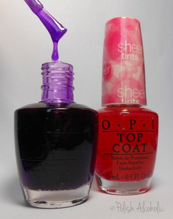 opi - sheer tints bottles