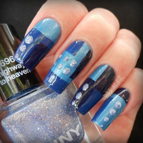 anny - nail art blue