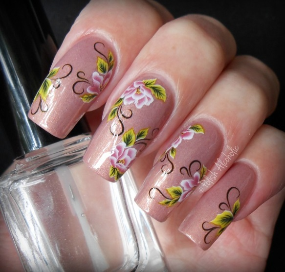 bps - floral nail stickers