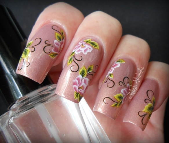 bps - floral nail stickers1