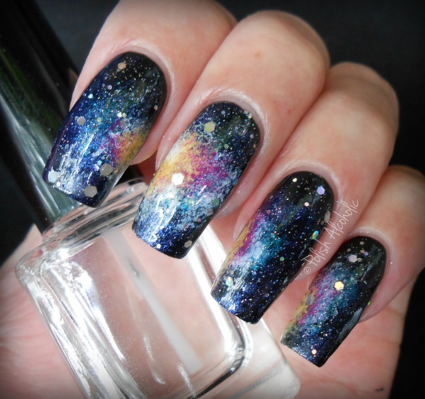 Galaxy Nails Tutorial Polish Alcoholic