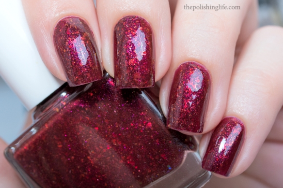 Polish Alcoholic Redrum swatch 3