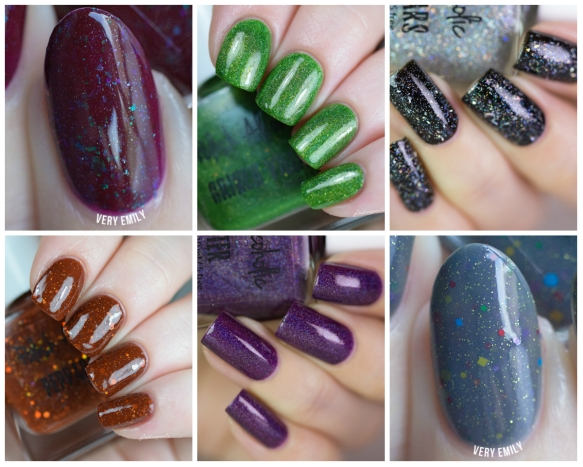 winter holiday - swatches collage